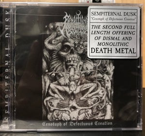 Image of SEMPITERNAL DUSK 'Cenotaph of Defectuous Creation' cd