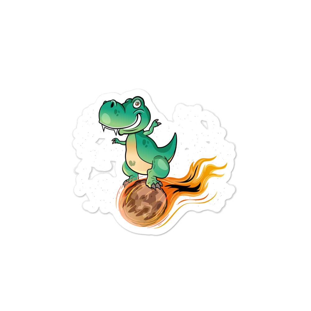 Image of End of Dinos Sticker (4x4)