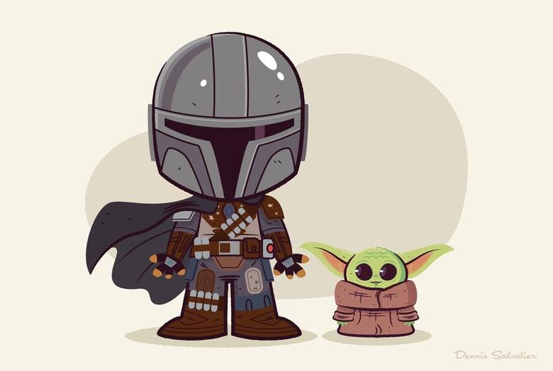 Image of Lil BFFs: Mandalorian & Baby Yoda (3-Pack)