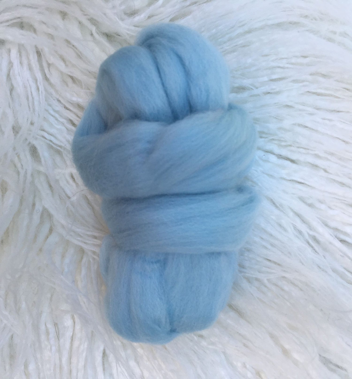 Image of Wool Roving Sold Individually- Off White, Sky Blue, Storm Grey