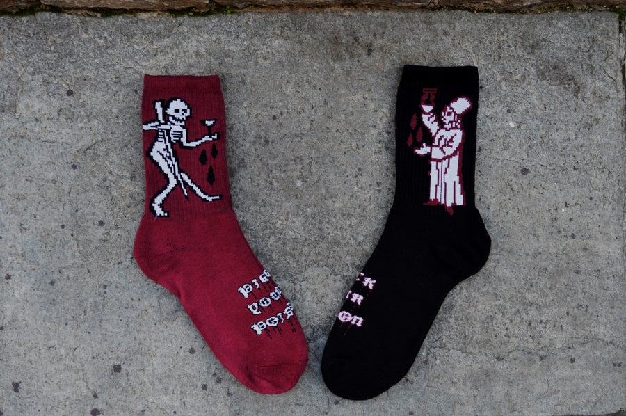 "Image of ""Pick Your Poison"" Crew Socks"
