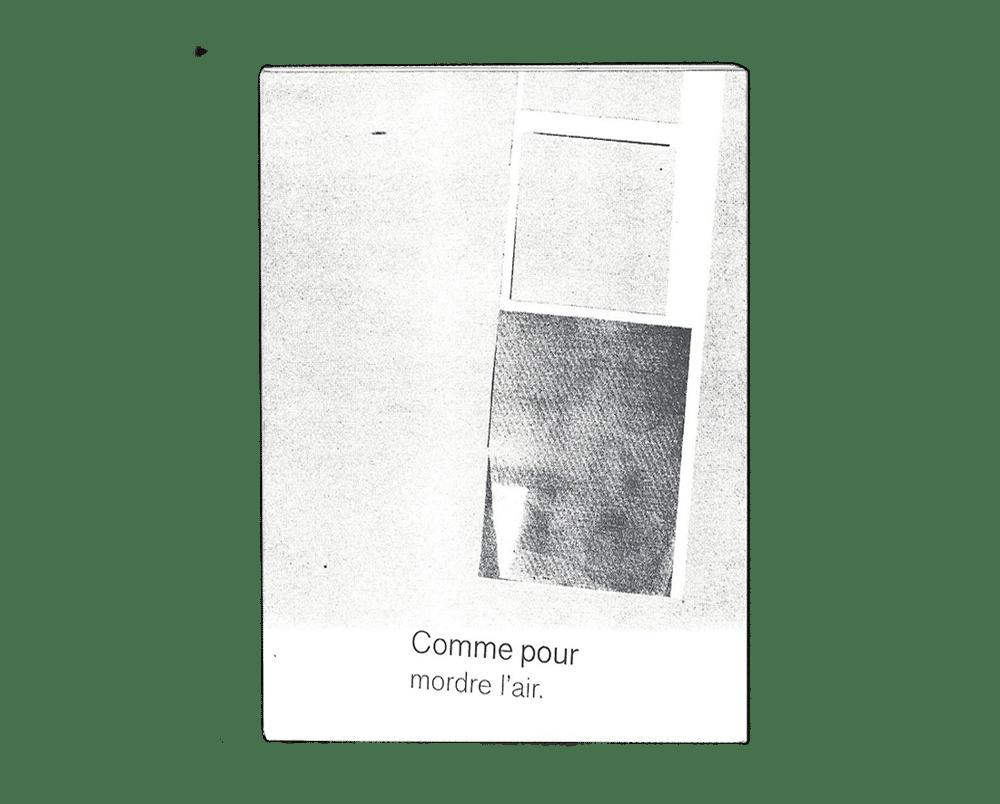 Image of Comme pour mordre l'air