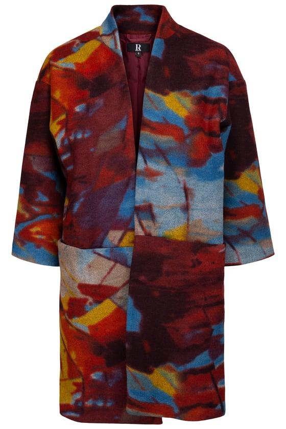 Image of Multi colour jakke i uld.
