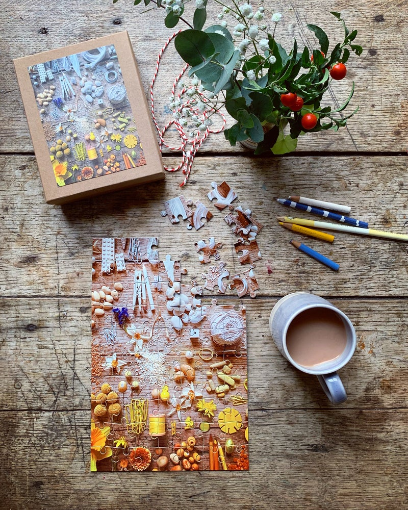 Image of 5ftinf Yellow Ombré Jigsaw Puzzle