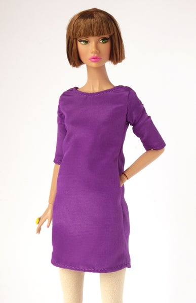 Image of The Leslie Dress in purple for Poppy Parker or Barbie (see description)