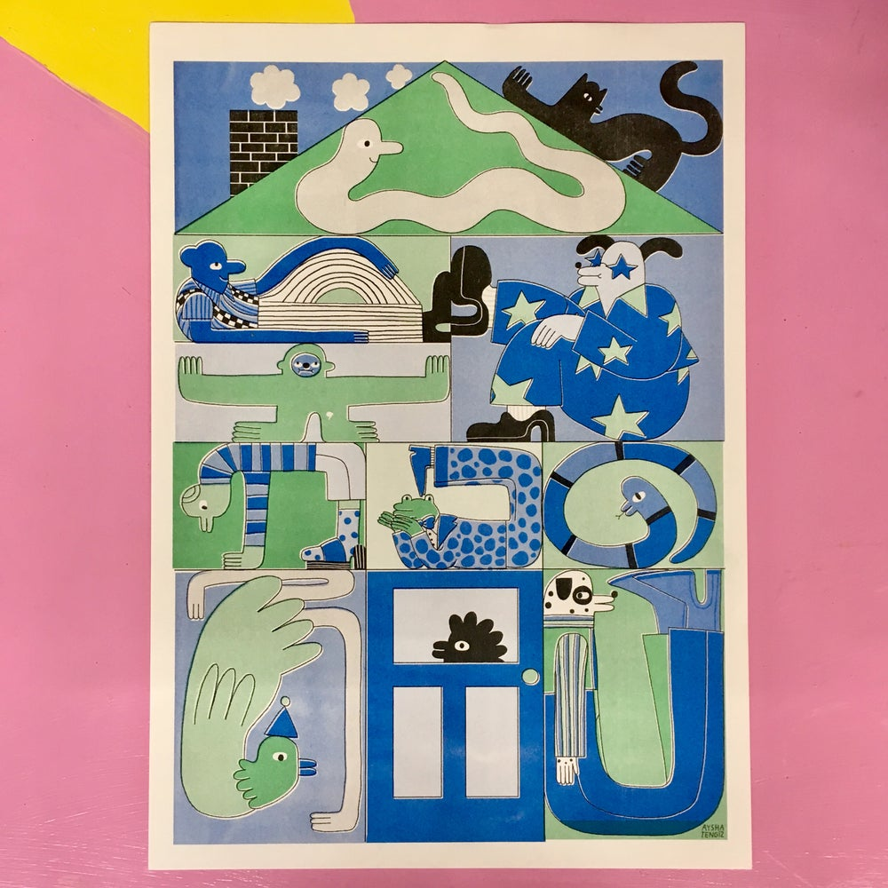 Image of A3 Full House Riso Print