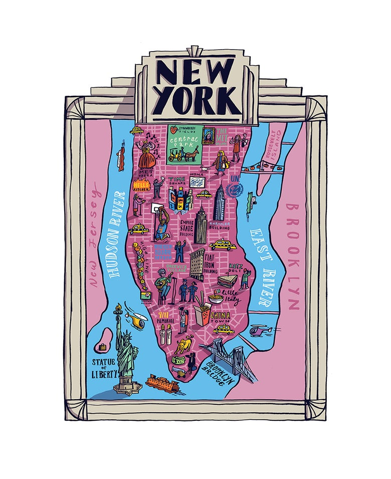 Image of New York Map