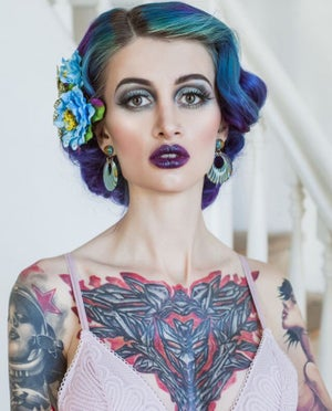Image of Deco Dolls Delight Hoop Earrings - Pink
