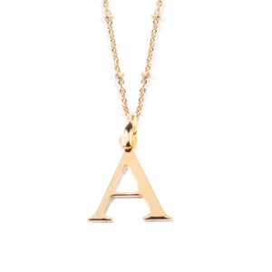 Image of FINE INITIAL | NECKLACE