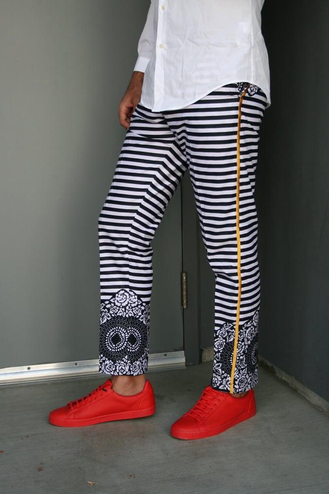 Image of The Kendu tux pants —-black  /white