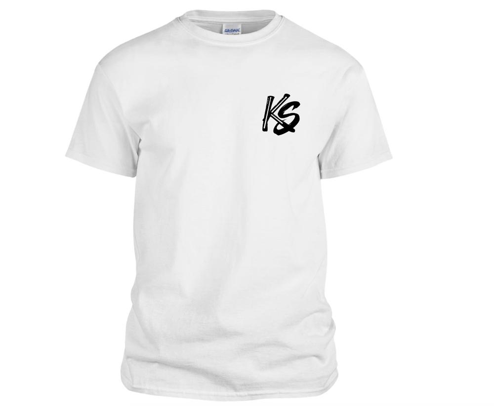 Image of KS Logo Tee Shirt (White)