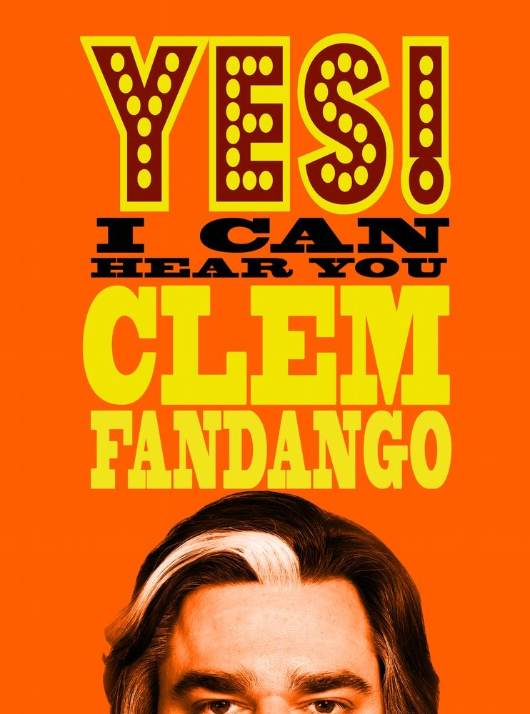 Image of Official Matt Berry 'Yes I Can Hear You Clem Fandango!' Orange T-Shirts