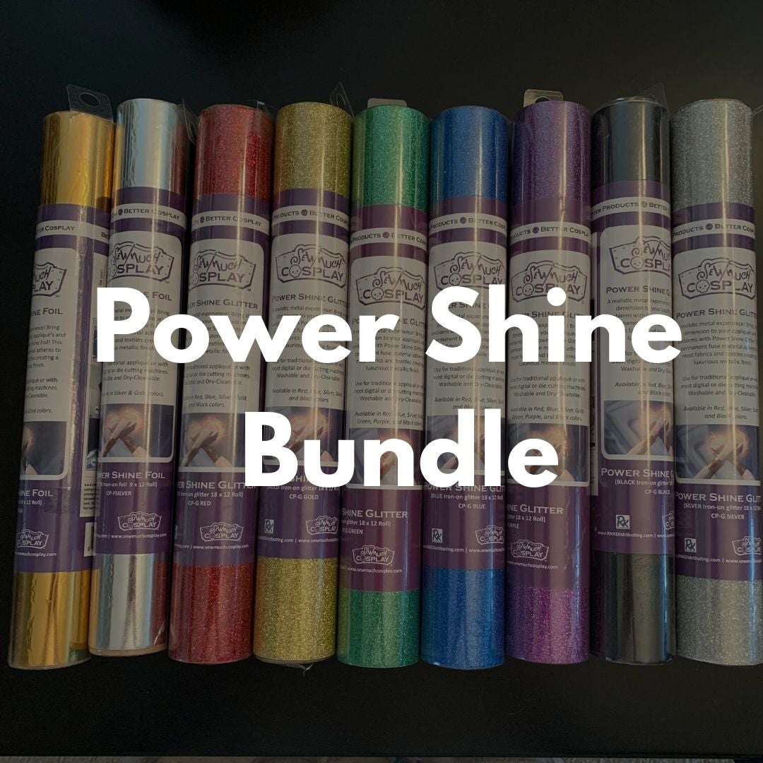 Image of LIMITED EDITION - Power Shine Glitter and Foil Bundle by Sew Much Cosplay