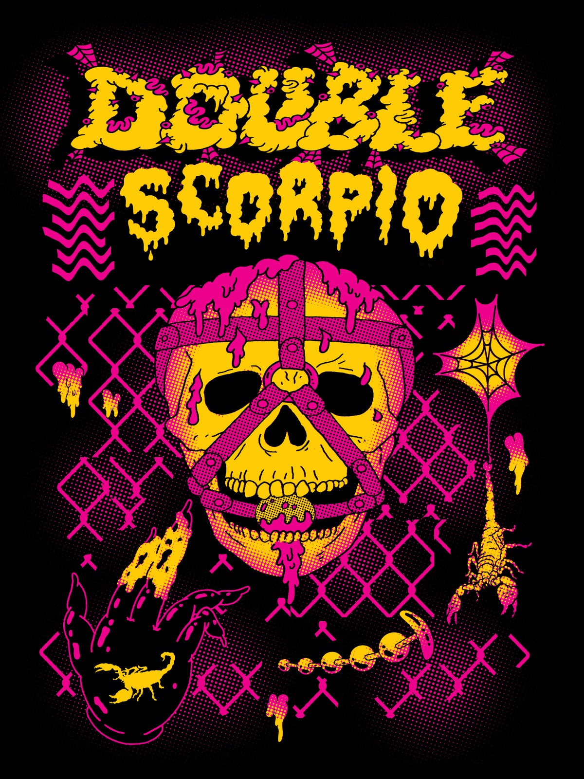 Image of Double Scorpio Gagged and Slimed T-Shirt