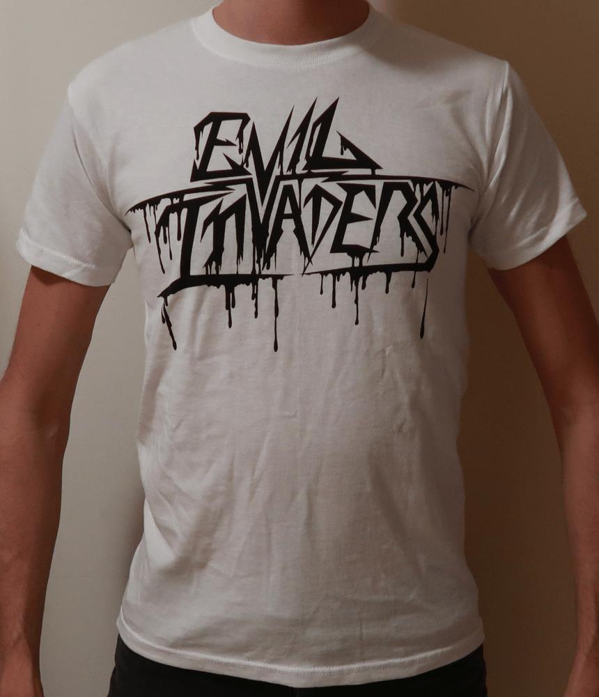 Image of White Logo - Feed Me Violence T-Shirt