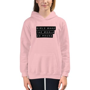 Image of NEW GIRLS MAKE THE WORLD GO ROUND HOODED SWEATER!