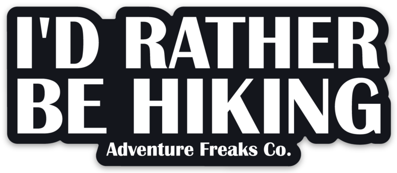 Image of I'd Rather Be Hiking Sticker
