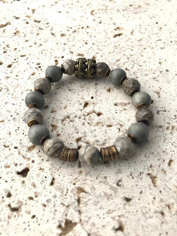 Image of Bracelet  élastique grosses pierres MYSTIC