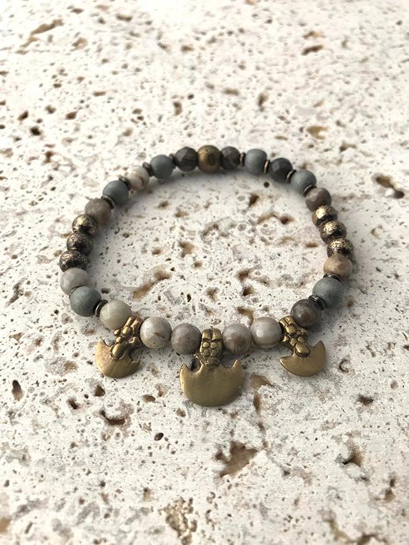 Image of Bracelet élastique petites pierres MYSTIC