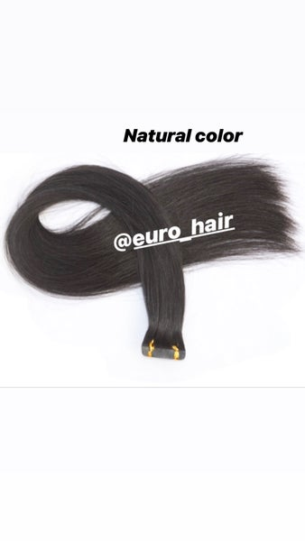 Image of INDIAN SKIN WEFT TAPE-IN EXTENSIONS STRAIGHT TEXTURE 6 COLORS