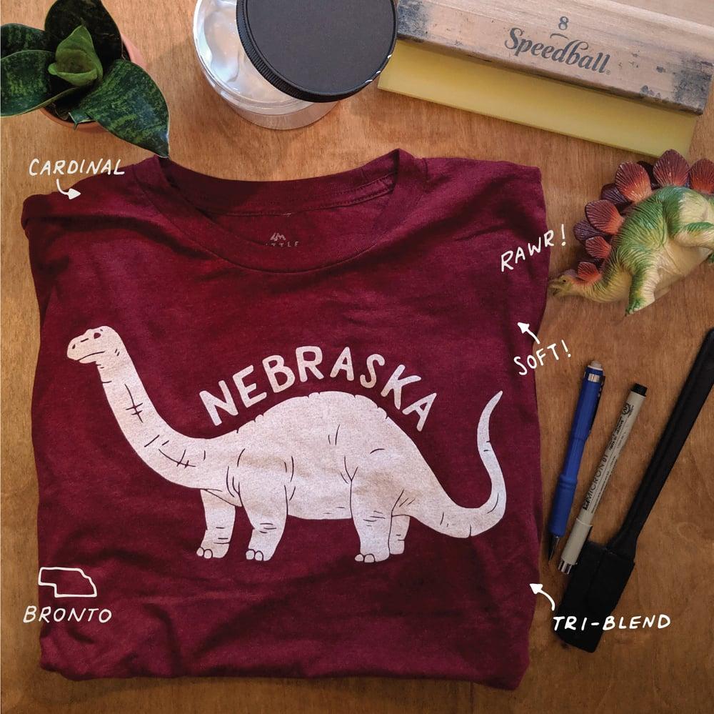 Image of Nebraska Brontosaurus T-shirt