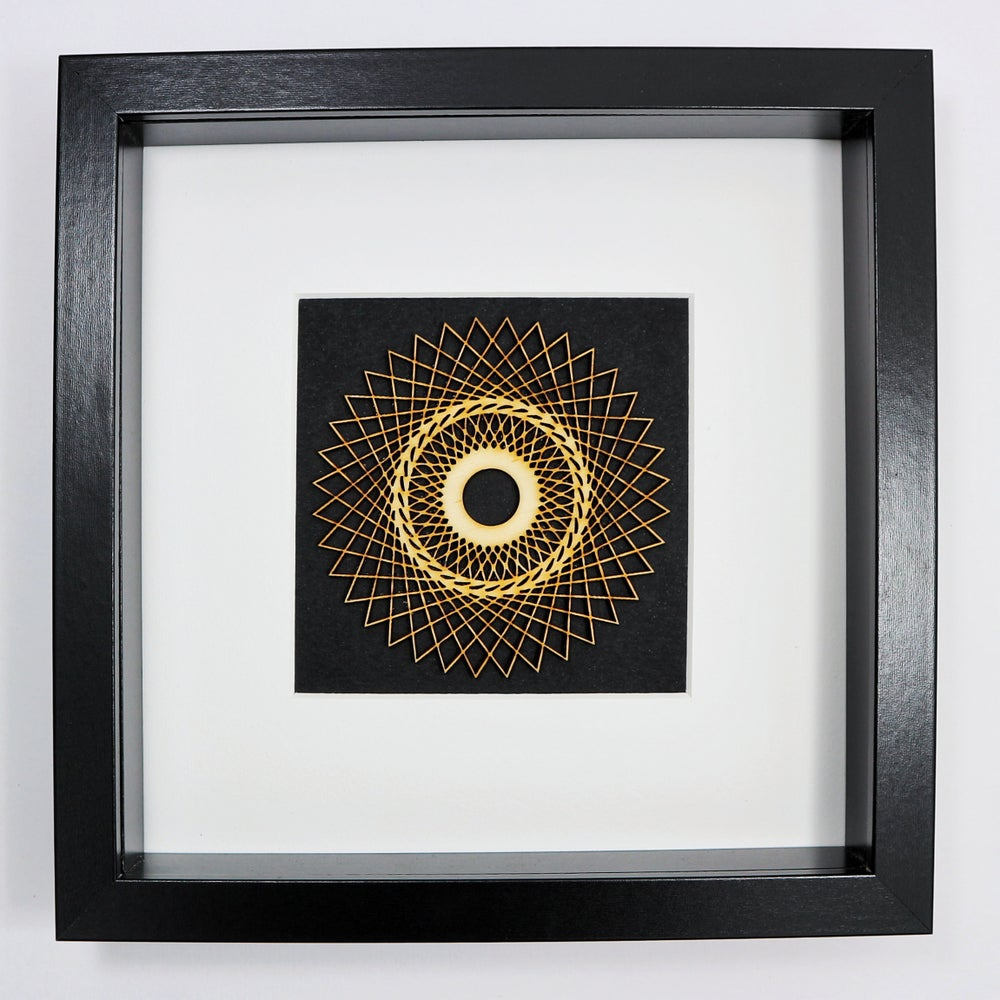 Image of Framed Spiragraph Woodcut