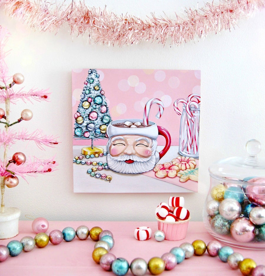 Image of Cookies with Santa plaque