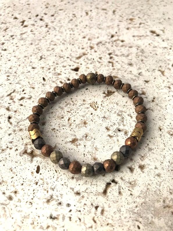 Image of Bracelet élastique petites pierres WILD WEST