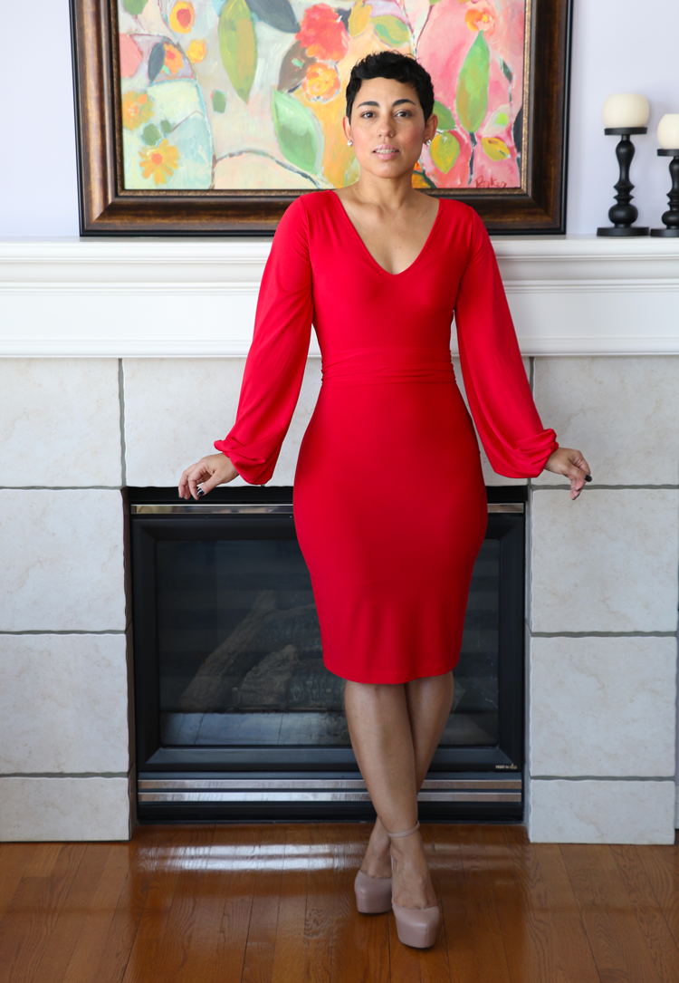 Image of RED HOT KNIT DRESS VIDEO TUTORIAL