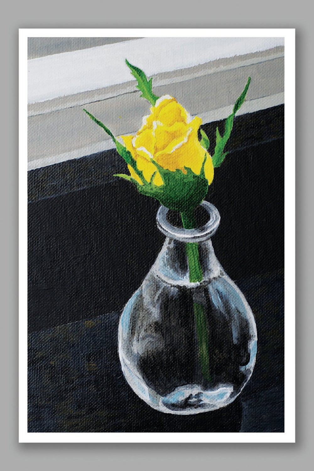 Image of Yellow Rose card