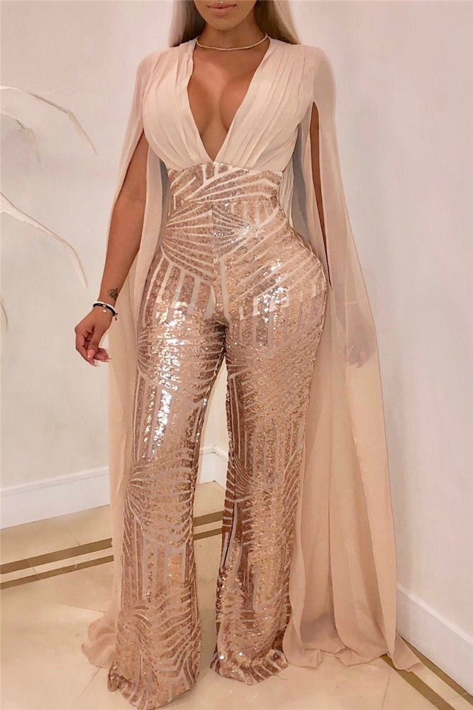Image of Superwoman Sequin Jumpsuit