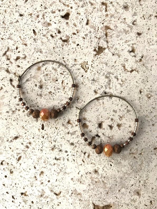 Image of Boucles d'oreilles créoles WILD WEST