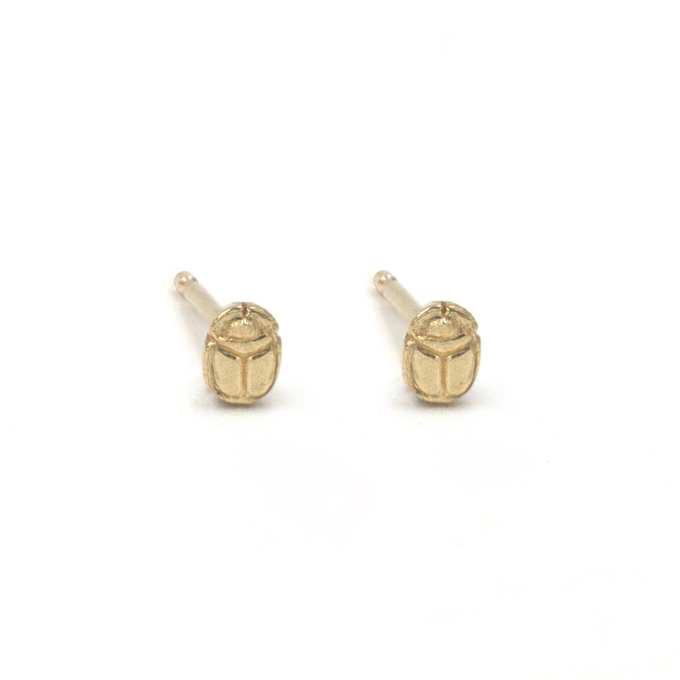 Image of Scarab Seed Studs 14k