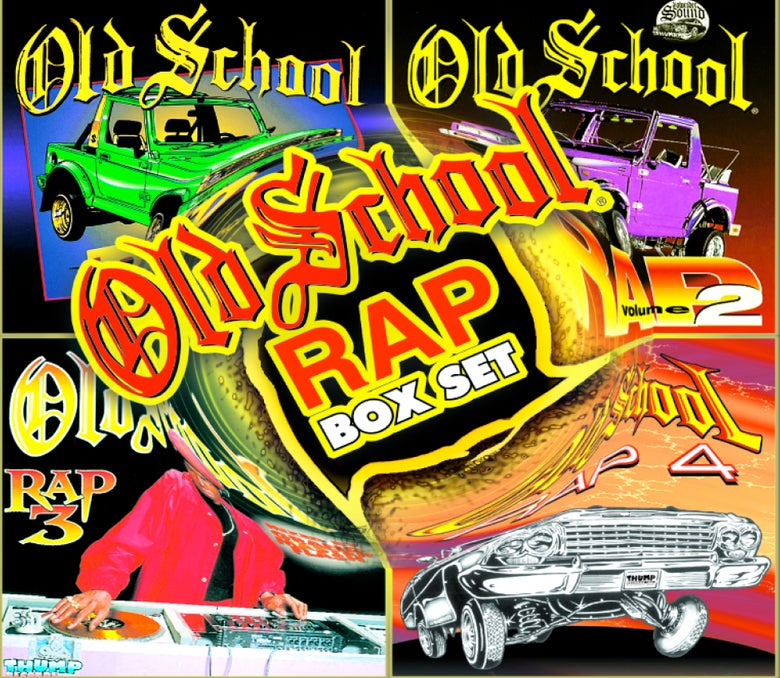 Image of OLD SCHOOL RAP VOL 1-4 BOX SET