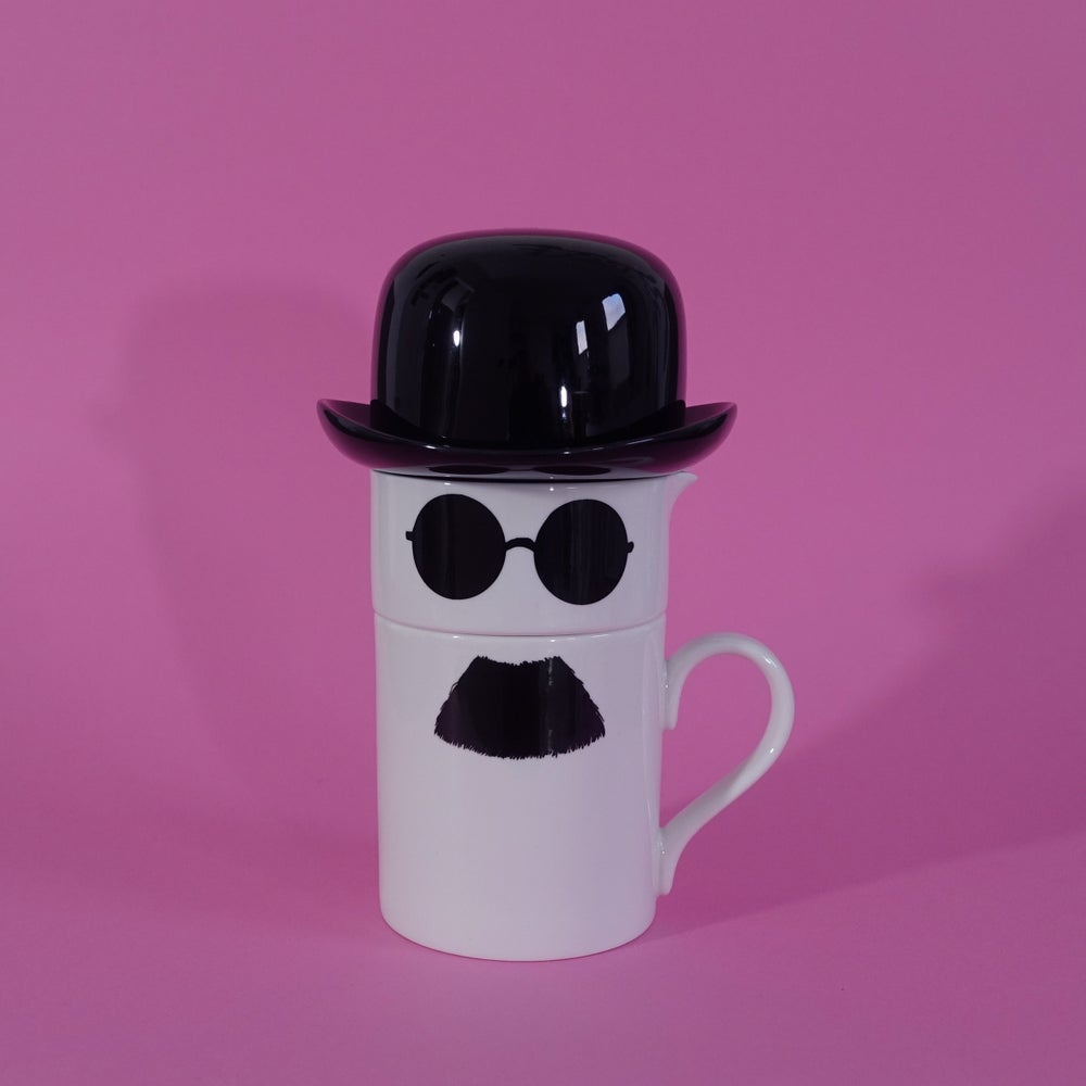 Image of Original Moustache Mug, Milk Jug and Sugar Bowl Set