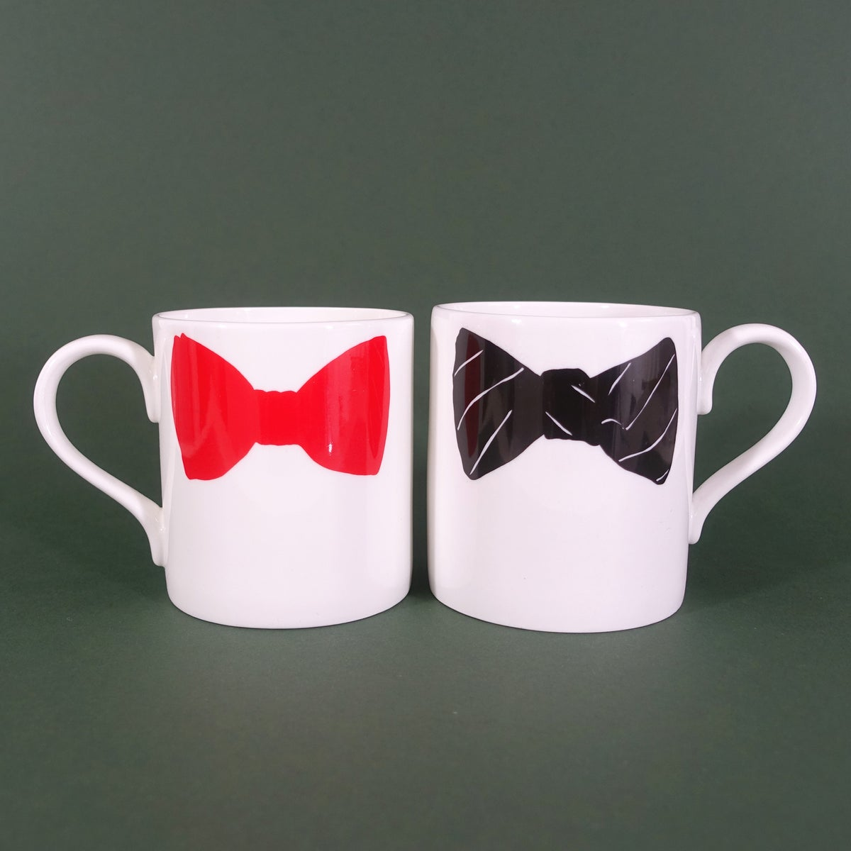 Image of Original Bow Tie Mug - Set of Two (Red & Black)