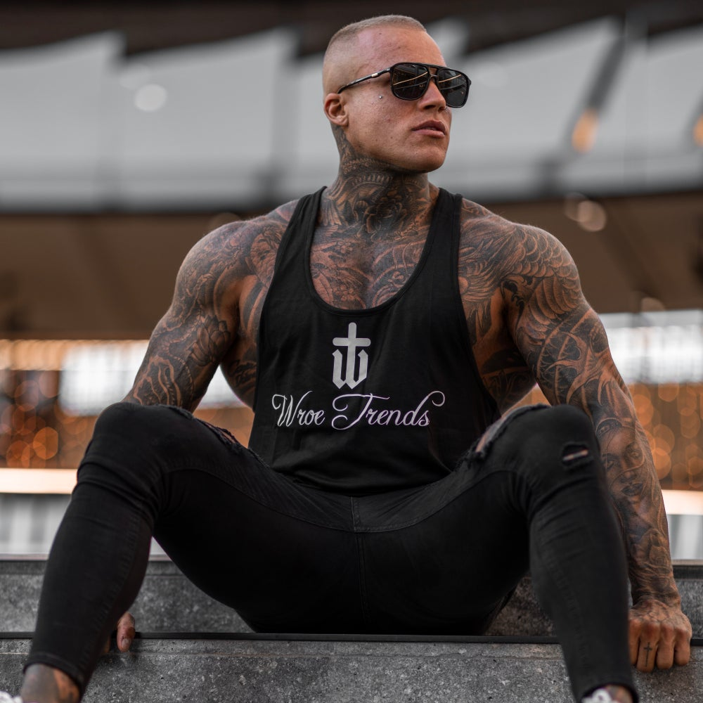 Image of BLACK CLASSIC MUSCLE VEST