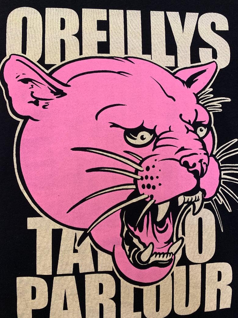 Image of Pink Panther, Cougar, or Puma shirt.