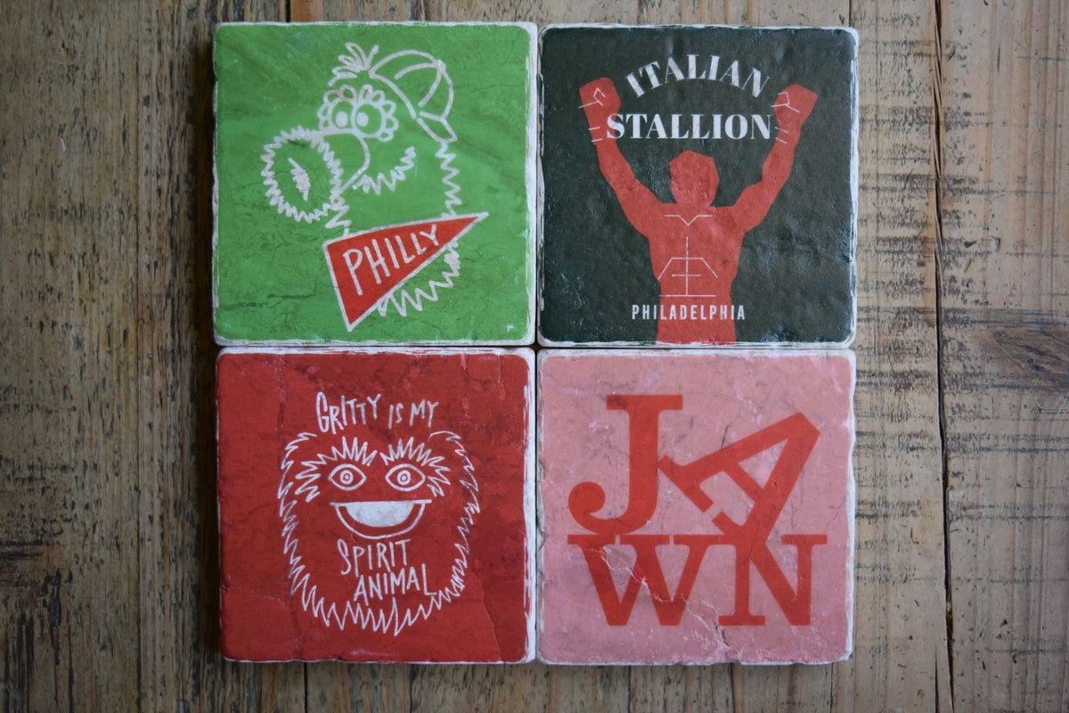 Marble Philly Icon Coasters