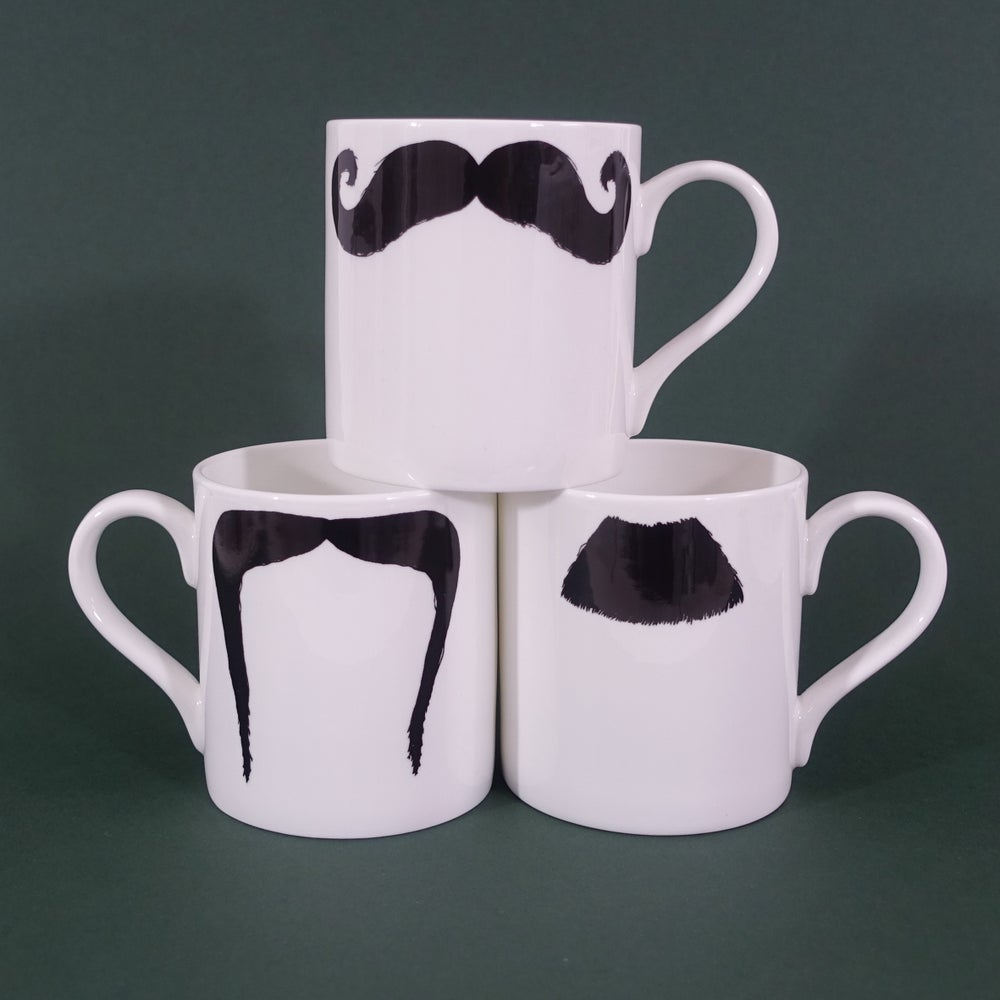 Image of Moustache Mugs Set of 3