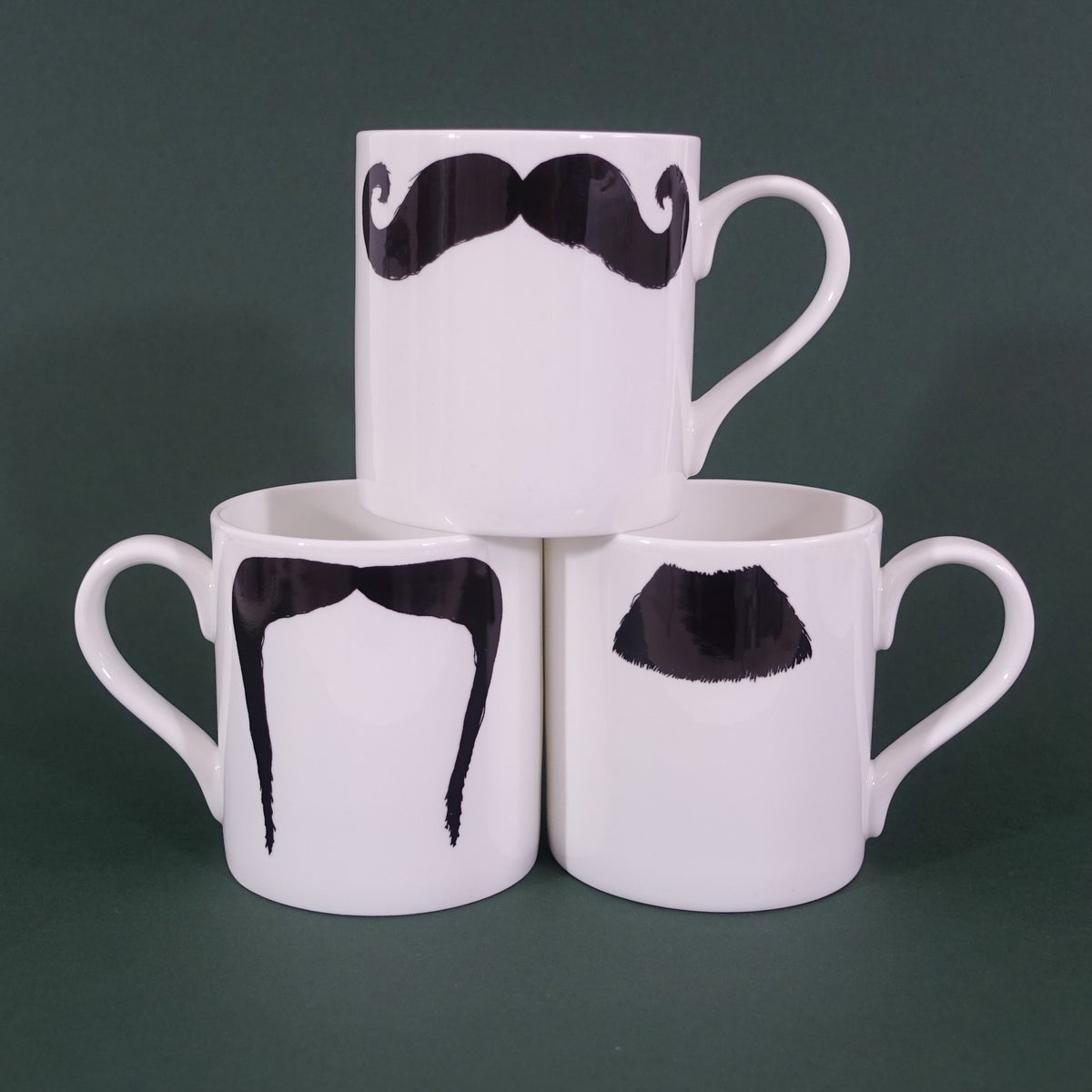 Image of Moustache Mugs Set of 3