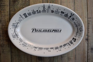 Image of Large Oval Philadelphia Icons Platter