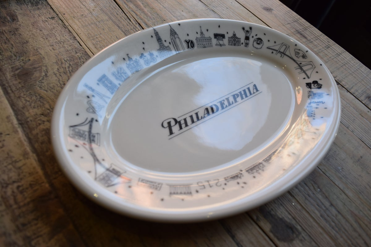 Large Oval Philadelphia Icons Platter