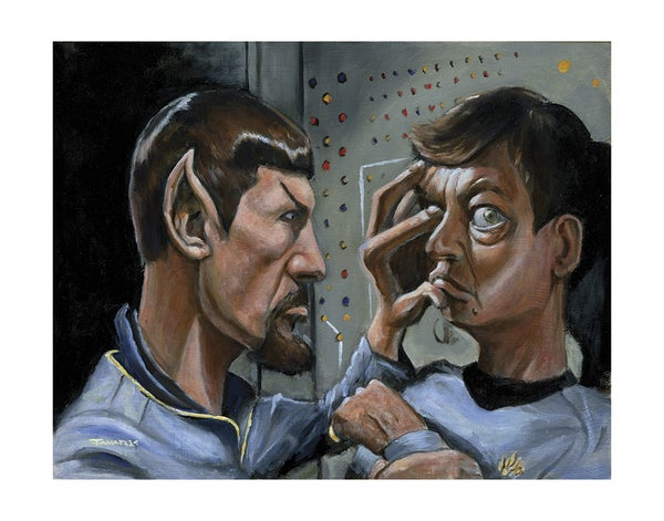 "Image of ""Pardon me Doctor. You have something in your eye."" Print (inspired by the Original ""Star Trek"")"