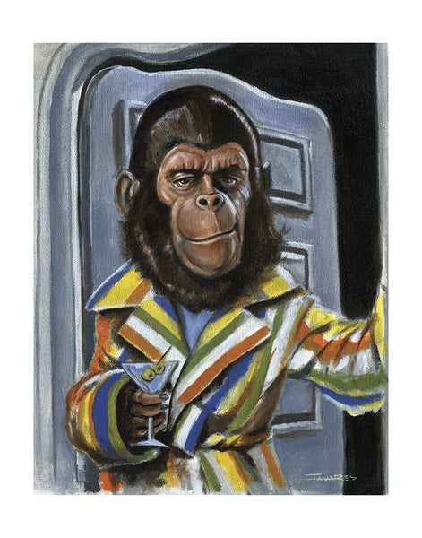"Image of ""Simian Sophisticate"" Print (inspired by ""Planet of the Apes"")"
