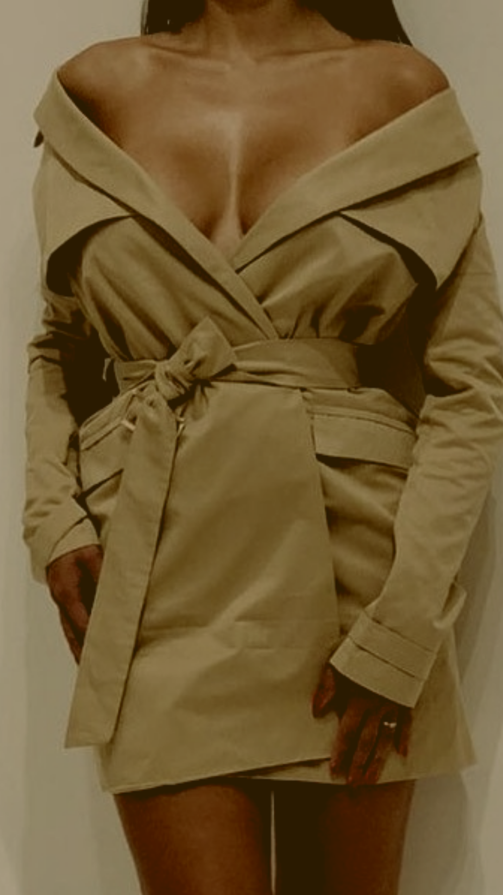 Image of Trench Coat Dress