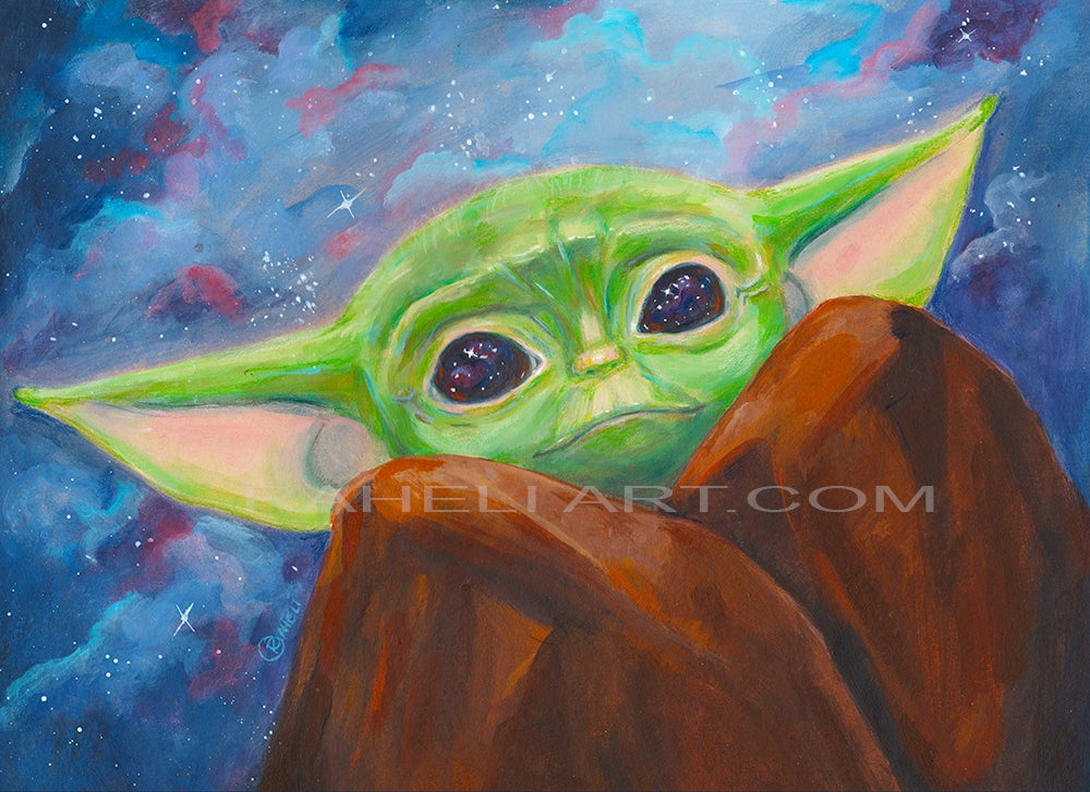Image of THE MANDALORIAN THE CHILD - BABY YODA PRINT