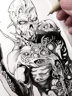Image of Creature of Eyes (Ink)- 13x19 Limited Print (signed)