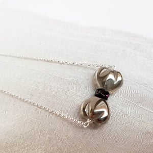 Image of Tiny Bow Necklace (Pewter)