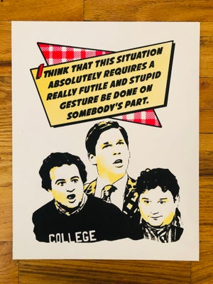 Image of Animal House Movie Quote Print